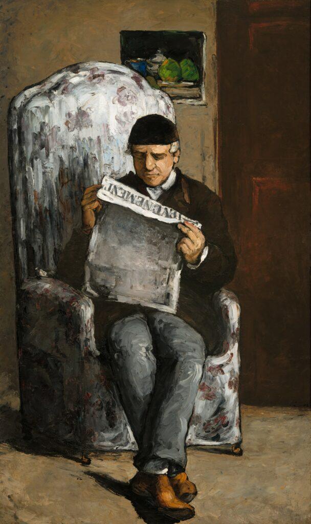 Paul Cézanne, 1866, V91, Louis-Auguste Cézanne, Father of the Artist, Reading l'Evenement, 200x120, NGA Washington (iR10;M21;R48,no67;R189,no91)