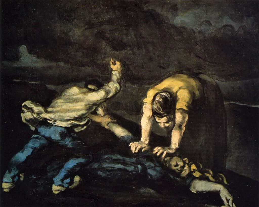 Paul Cézanne, 1867-70ca, V121, FWN613, The Murder, 65x80, Liverpool WAG (iR2;iR6;R48,no28;R34,p24;R189,no101;iR194,no613)
