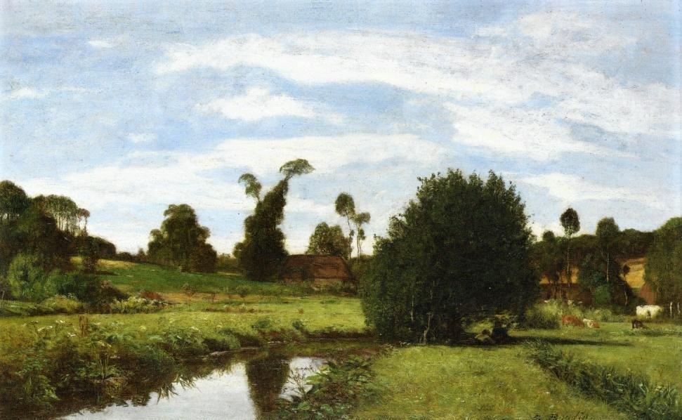 Eugène Boudin,1854-57ca, Norman Landscape, 34x58, private (iRx)