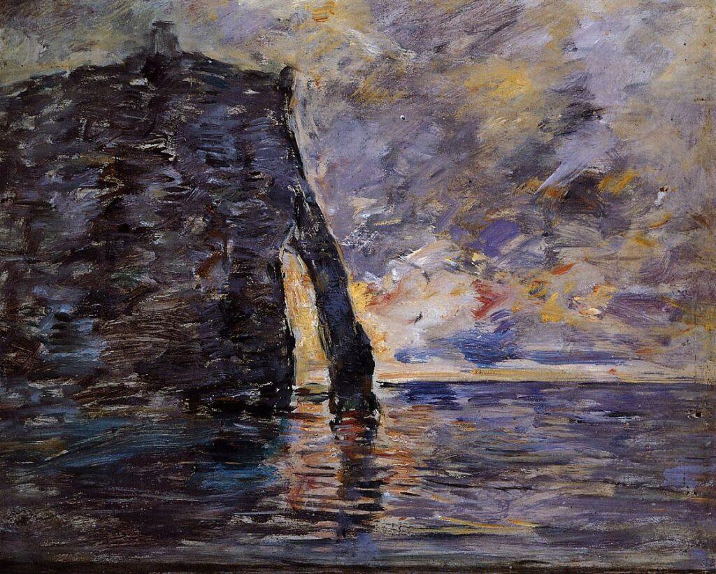 Eugène Boudin, 1890-94ca, CR2763, Étretat, Le Falaise d'Aval, on wood, 38x46, MuMa Le Havre (iR2;iR23;R51,p191;R122,no2763;M15,noB20)