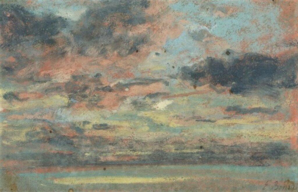 Eugène Boudin, 1IE-1874-20-3, études de ciel (pastels). Maybe?: 18xx, Study of the sky, pastel, 15x22, A2017/03/29 (iR13;iR10;R2,p119;R87,p230)