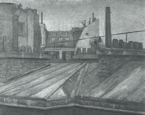 Gustave Caillebotte, 4IE-1879-11, Vue de toits =1878, CR105+97, View on the roofs, Paris, 60x73, unknown location (aR8;R2,p266;R102,no97+p282;R101,no105;R90II,p106+122)