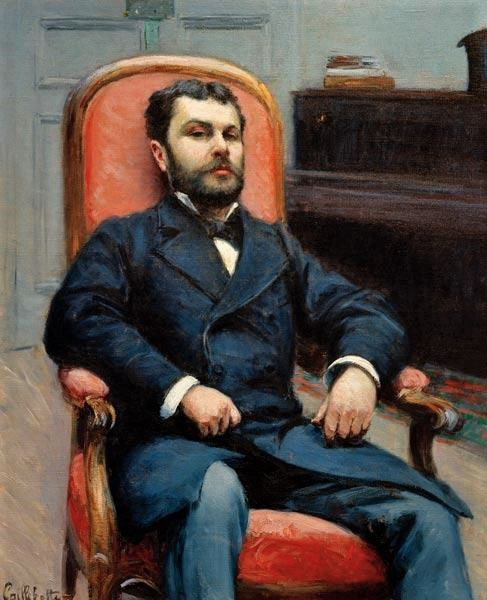 Gustave Caillebotte, 4IE-1879-16 =1878, CR82+107, Portrait of Richard Gallo, 80x65, private (iR10;iR303;R102,no107+p282;R101,no82;R90II,p106+123)