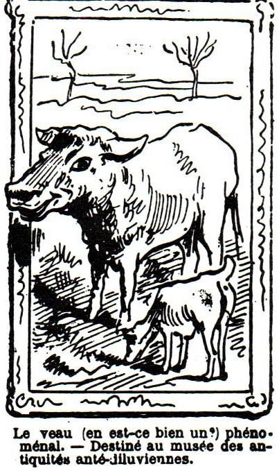 Gustave Caillebotte, 4IE-1879-31+hc1, Une Vache et une chèvre. Compare: 1879/04/23, Draner, caricature, Le Charivari (R90II,p108+125;R102,no126+p283;R2,p255).