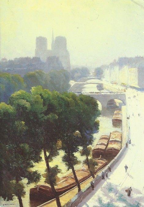Gustave Caillebotte, 5IE-1880-13, Vue de Paris, soleil. Now: 1878, CR97/105, Sunny view of Paris, 105x74, Josefowitz Lausanne (iR49;R101,no97;R102,no105+p283;R2,p310)