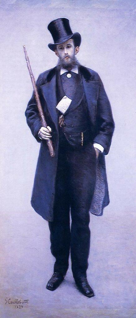 Gustave Caillebotte, 5IE-1880-8, Portrait de M.G.C or more likely hc. Now; 1878, CR81/111, Portrait de monsieur Paul Hugot, 204x92, private (iR2;iR59;R90II,p145+159;R101,no81;R102,no111+p283)