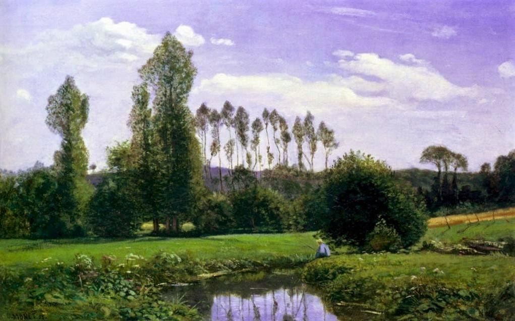 Claude Monet, 1858, CR1, View from Rouelles (near Le Havre), 46x65, Marunuma AP (iR112;R22;R51,p17).