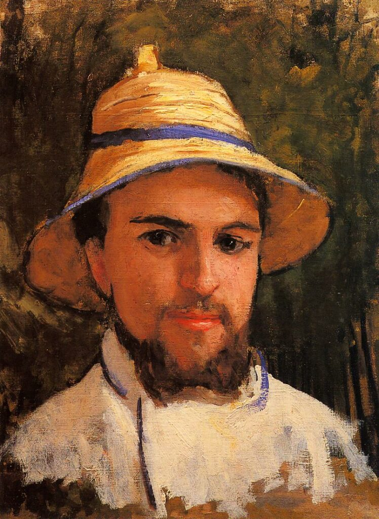 Gustave Caillebotte, 1872ca, CR509, Self Portrait wearing a Summer Hat, 44x33, private (iR2;R102,no509)