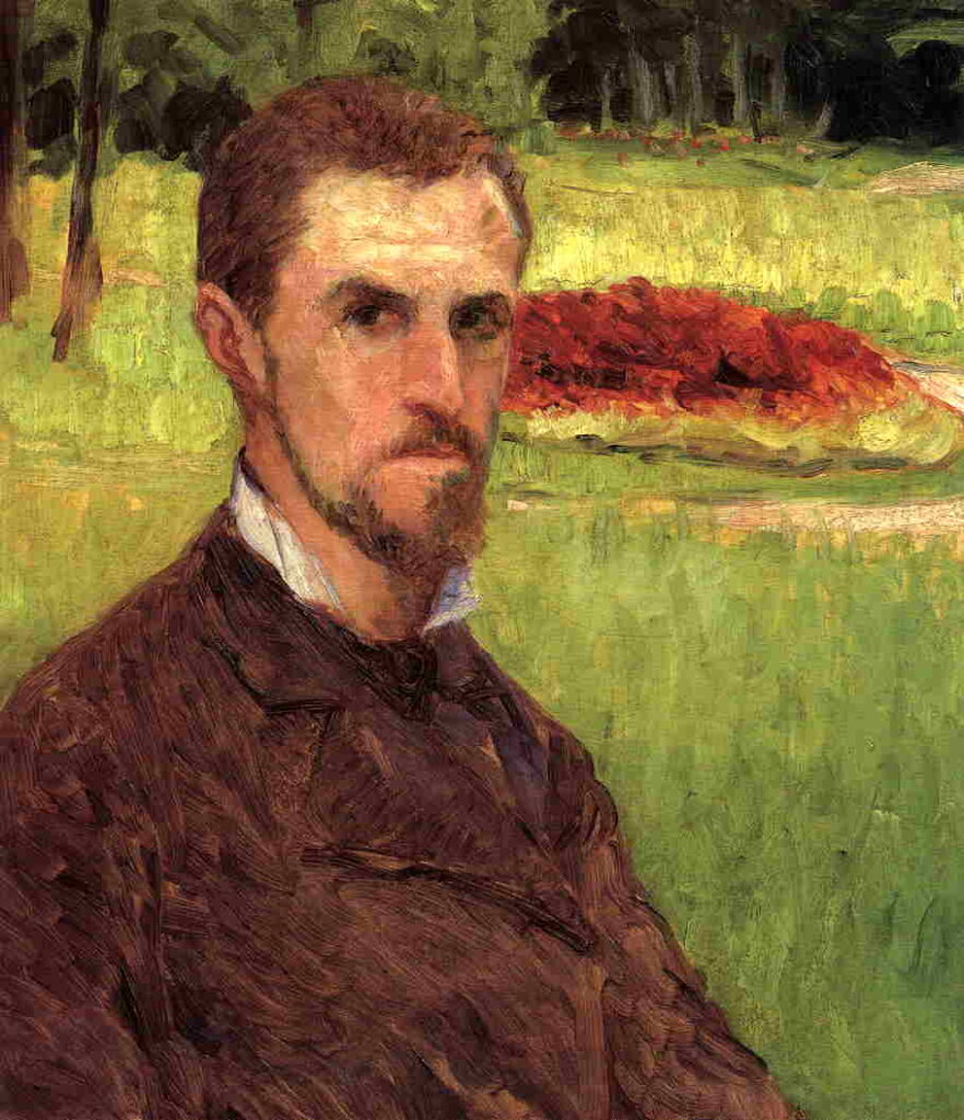 Gustave Caillebotte, 1875ca, CR26, Self-Portrait in the Park at Yerres, 64x48, HD1990/03/20 (iR2;iR85;R102,no26)