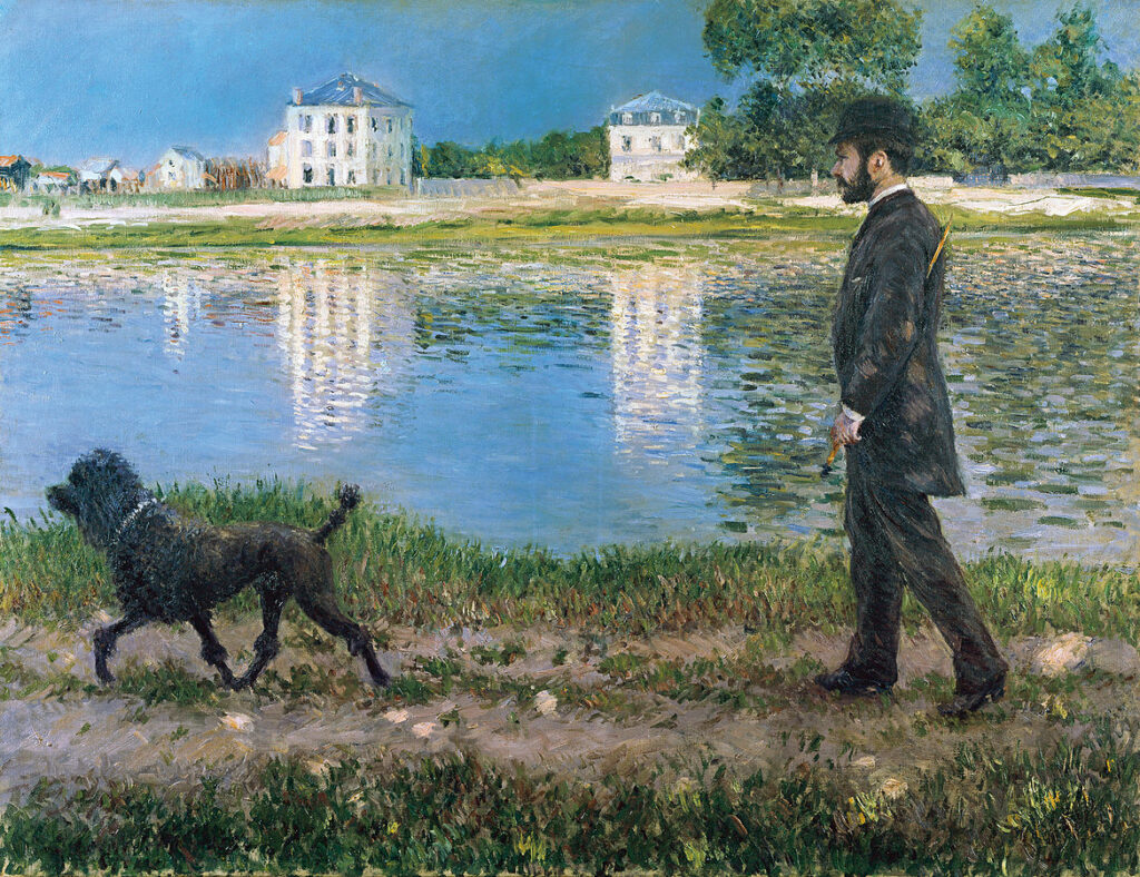 Gustave Caillebotte, 1884, CR290+305, Richard Gallo and His Dog at Petit-Gennevilliers, 89x116, private (iR6;iR2;R101,no290;R102,no305)