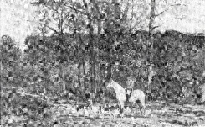 Auguste de Molins, 18xx, Rendez-vous de chasse, xx, private (R87,p242). Maybe: 1IE-1874-94bis, Rendez-vous de chasse; compare: 1IE-1874-93 + SdR1873-343.