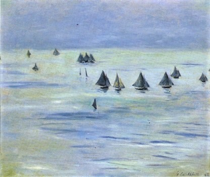 Gustave Caillebotte, 7IE-1882-14, Marine pastel. Compare: 1882, CR189+219, Voiliers en mer, 54x65, private (aR8;iR10;aR3;R101,no189;R102,no219)
