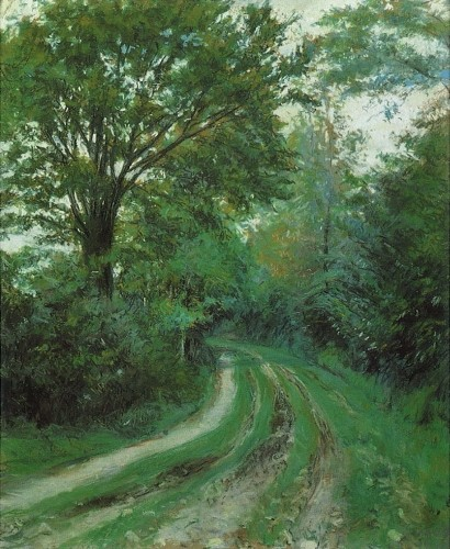 Gustave Caillebotte, 7IE-1882-16, Chemin vert. Maybe: 1880, CR158+172, Route en Normandie, pastel, 54x44, private (aR8;iR10;aR3;R102,no172;R101,no158;R90II,p202) =DR1894/06/04-72
