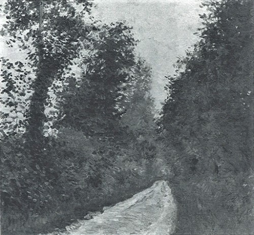 Gustave Caillebotte, 7IE-1882-16, Chemin vert. Maybe: 1881, CR75+191, Chemin Couvert en Normandie, 50x54, private (aR8;R101,no175;R102,no191+p283;R2,p394;R90II,p202)