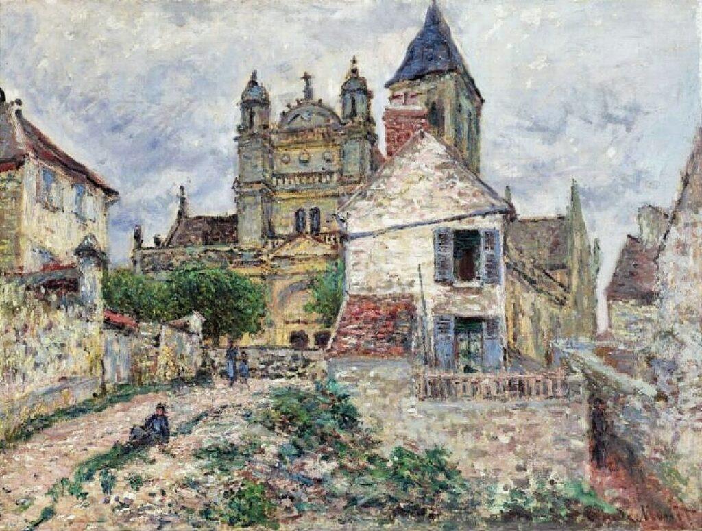 Claude Monet, 7IE-1882-65, Église de Vétheuil =1881, CR473, The Church at Vétheuil, 61x81, private (iR6;R22,no473;R90II,p205+220;R2,p395)