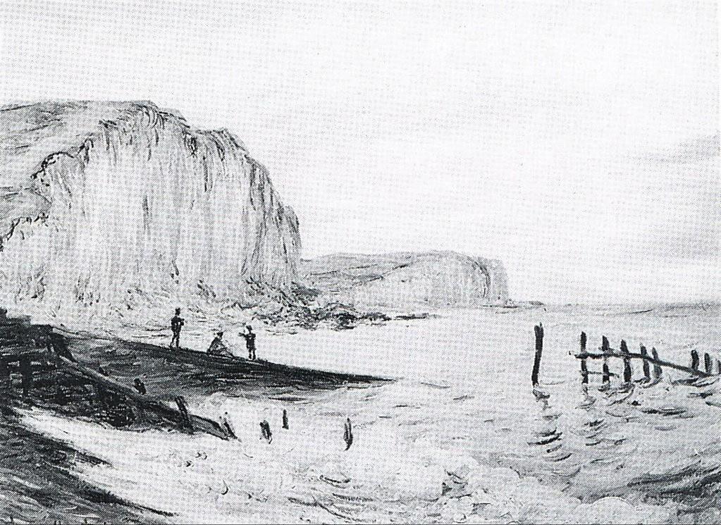 Claude Monet, 7IE-1882-73, Falaises des petites dalles. Option 2 of 2: CR665, 1880, Cliffs of Les Petites-Dalles, 60x81, unknown (iR10;iR94;R22,no665;R90II,p205+221;R2,p395)