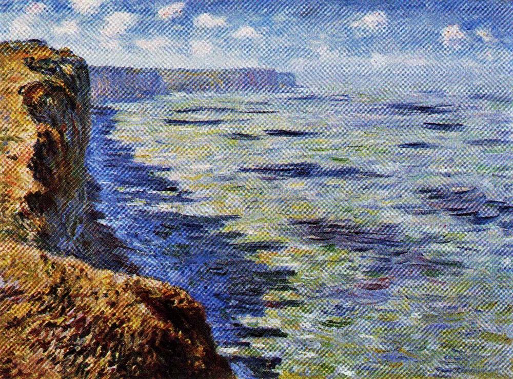 Claude Monet, 7IE-1882-76, Etude de mer vue des hauteurs =1881, CR649, sea study seen from the cliffs, 60x81, private (iR10;iR135;R22,no649;R90II,p206+221;R2,p395)