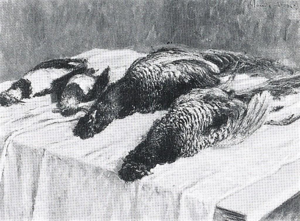 Claude Monet, 7IE-1882-82, Gibiers, nature morte. Option 2 of 2: CR549, 1879, Pheasants, 68x90, private (iR10;iR94;R22,no549;R90II,p206+223;R2,p395)