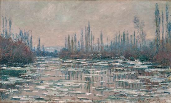 Claude Monet, 7IE-1882-85, Les glaçons. Maybe: CR569, 1880, Breakup of ice, 59x99, SOR Winterthur (iR6;R22,no569;R90II,p206+223;R2,p395;M87)