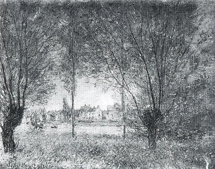 Claude Monet, 7IE-1882-91, Les saules. Option 2 of 2: CR612, 1880, The willows at Vétheuil, 60x74, private (iR10;iR64;R22,no612;R90II,p207;R2,p395)