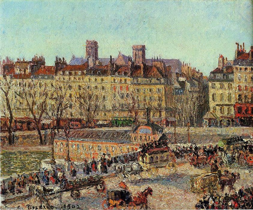 Gustave Caillebotte, 7IE-1882-17+hc1, La Samaritaine. Compare: Pissarro, 1902, CCP1417, The Baths of the Samaritaine, Afternoon, 39x46, private (iR10;iR122;R116,no1417;R90II,p202)