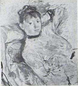 Berthe Morisot, 8IE-1886-90, Portrait de Mlle L. Maybe(?): 1885, CR175, Isabelle (Lambert), 65x33, xx (iR6;R100,p34)