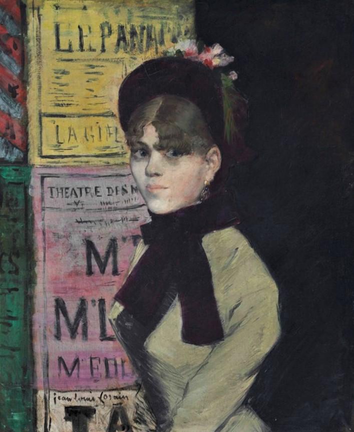 Jean-Louis Forain, 1880-85ca, La femme aux affiches, 56x46, A2018/05/10 (iR15;iR11;iR6)