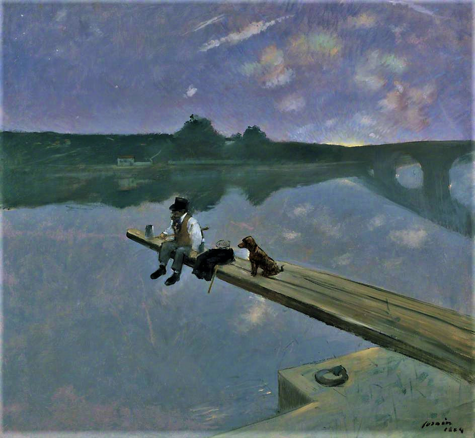 Jean-Louis Forain, 1884, The Fisherman (Le Pêcheur), 97x99, Southhampton CAG (iR2;iR6;R50,p103;R89,no103;M69)