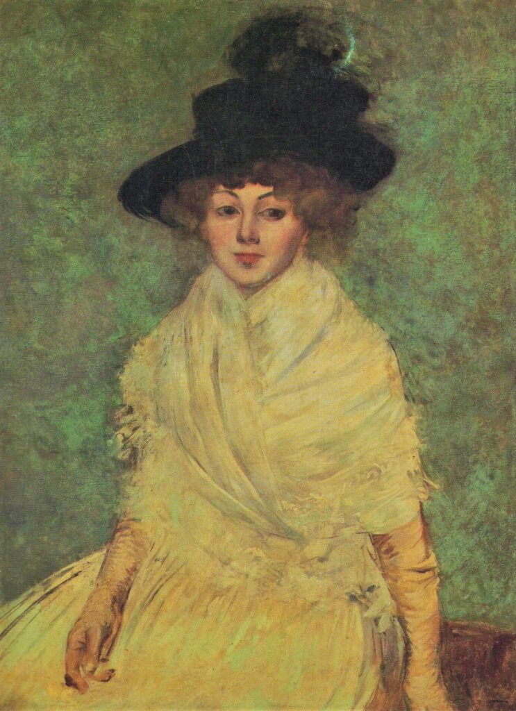 Jean-Louis Forain, 1891, Mme Jeanne Forain in a black hat, 93x68, family collection (iR6;R43,p38)