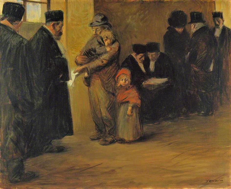 Jean-Louis Forain, 1900-12, Legal Assistance, 61x73, NG London (iR2;M61)
