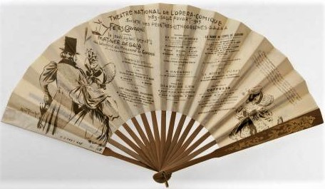 Jean-Louis Forain, 4IE-1879-101-104, éventail. Compare: 1903, Souvenir de la Matinée de Gala donnée à l'Opéra Comique, fan, 14h, Carnavalet Paris (aR5=iR302;R2,p268;M8)