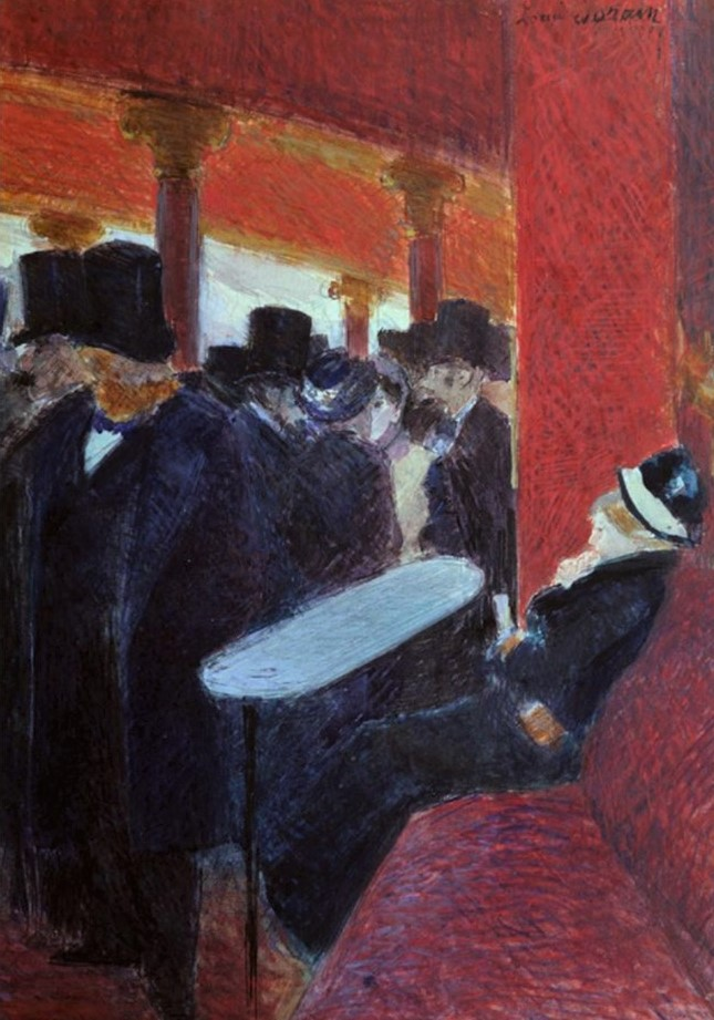 Jean-Louis Forain, 5IE-1880-48, Dessin. Maybe: 18xx, Au Folie Bergère, gouache, 35x25, A1987/07/01 (iR64;iR13;R2,p311;R90II,p149)