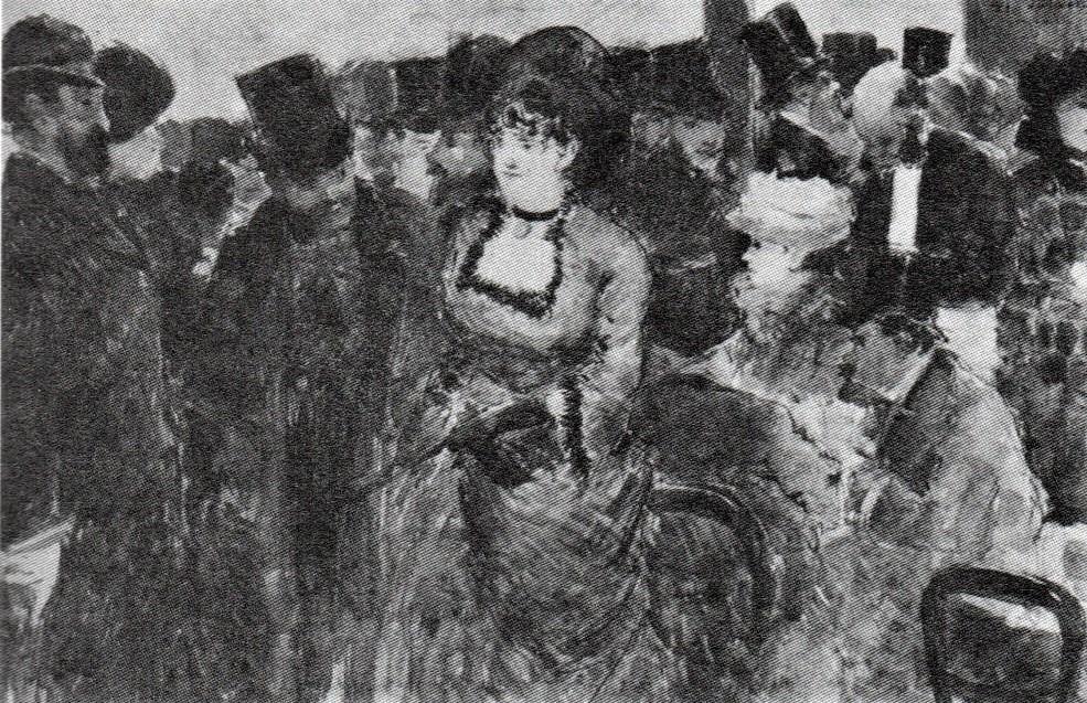 Jean-Louis Forain, 6IE-1881-23, Couloir de théâtre =18xx, Couloir de théâtre, wc+g, 22x36, private (R90II,p191;R2,p354)