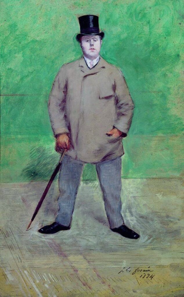 Jean-Louis Forain, 8IE-1886-41+hc, Portrait de Jacques-Emile Blanche =1884, Portrait de Jacques-Emile Blanche, oil on carton, 64x40, MBA Rouen (iR10;iR108;iR23;R2,p444;R43,p36;R90II,p242+260;R90I;M12)