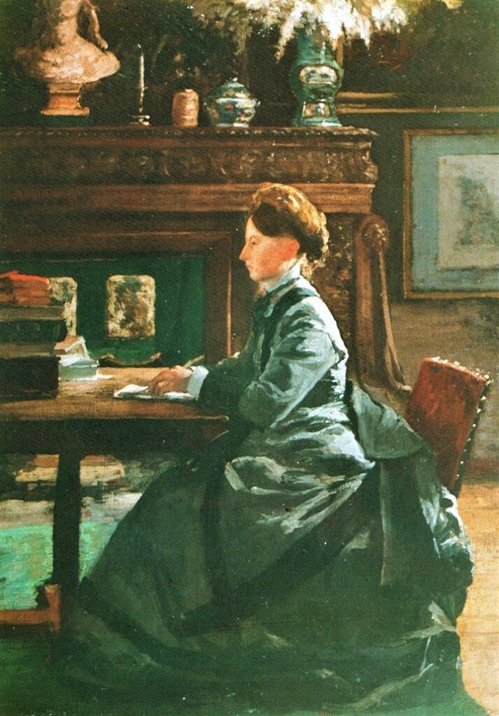 Henri Rouart, 1872ca, Portrait of Mme Rouart, 66x47, Gallery Paris (R89,p72)
