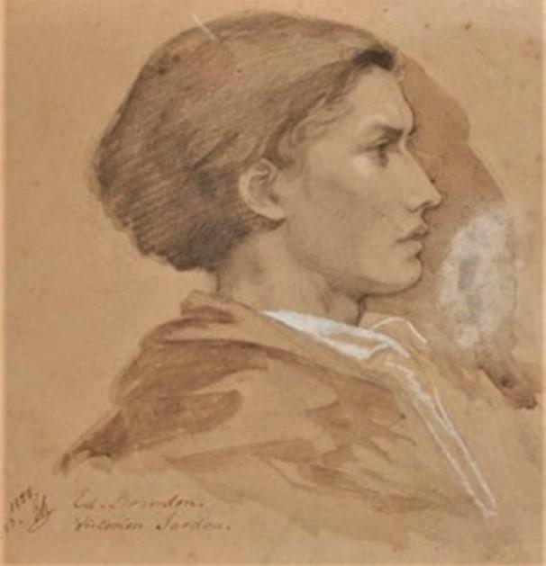 Edouard Brandon, 1IE-1874-30, Portrait de M. A.Z. (dessin) =? S1867-1657, Portrait de M. A. Z.; dessin. Compare: 1852-53, Portrait of Victorien Sardou (detail), dr, 24x18, A2019/11/08 (iR13;iR10;iR1;R2,p119)