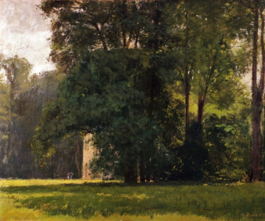 Henri Rouart, 18xx, The house in the park, 60x73, Haggerty MA Milwaukee (iR94;R2,p165). Compare: 2IE-1876-235, Dans un parc (sépia).
