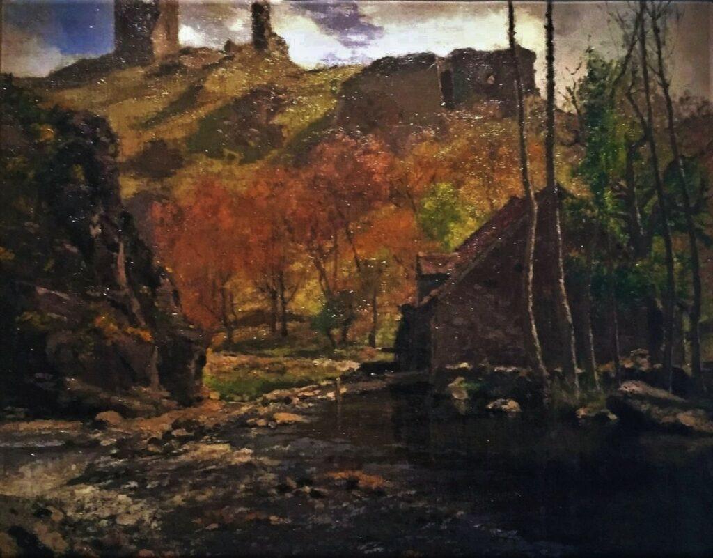 Henri Rouart, 1875-77ca, Sbr, Les bords de la Sédelle (moulin et ruines du château), 48x60, private (iR10;R92,no34). Maybe: 3IE-1877-206, Bords de la Sédelle.