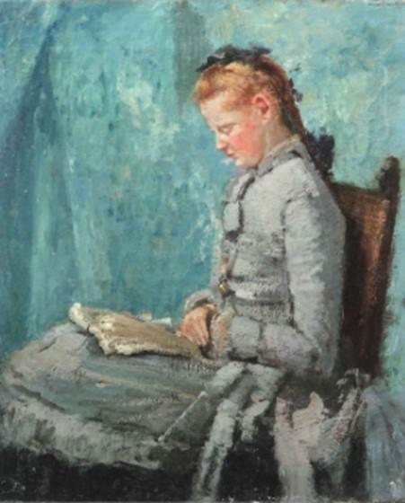 Henri Rouart, 1878-1880ca, Portrait of Hélène, daughter of the artist, 46x38, private (iR132;aR21;aR20;R92,no8;R90I,p130). Probably at the Rue de Lisbonne. Maybe: 3IE-1877-208, Portrait.