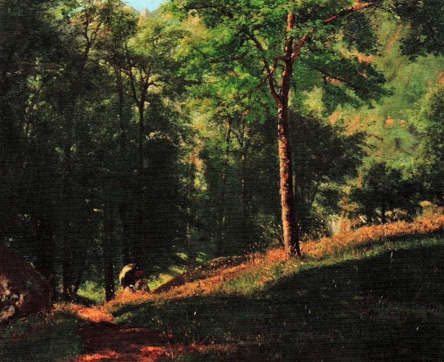 Henri Rouart, 18xx, Sbr, Sous-bois en Montagne, 60x75, private (R92,no40;R2,p206). Maybe?: 3IE-1877-209, Vallée de Cauterets.