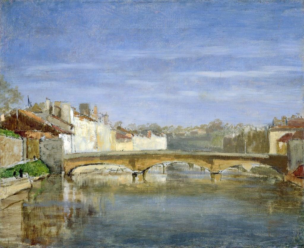 Henri Rouart, 18xx, S-, Landscape with bridge, 37x46, Marmottan (iR155;M2;aR34;aR2;aR21;aR20;R92,no33). Maybe?: 4IE-1879-209, Bords du Loir.