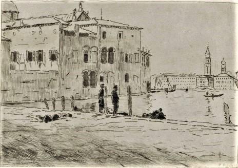 Henri Rouart, 1879 or 83ca, View on Venice, dr, xx, DAG Louvre (iR127;iR64;M5a). Compare: 5IE-1880-185-192, Venise (Aquarelle).