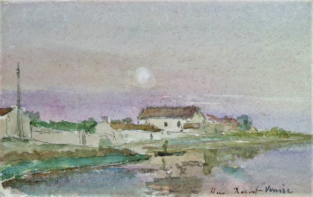 Henri Rouart, 1879 or 83ca, Venice, wc, 10x16, Marmottan (iR155;M2;iR6;aR3). Maybe?: 8IE-1886-160, Un soir dans la Giudecca, Venise; (aquarelle).