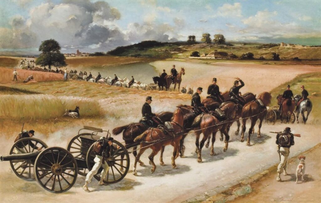 Henri Rouart, 18??, Mobilising the canons, 60x92, A2008/05/08 (iR94;iR6;aR13;aR20). Maybe: S1872-1342, Officiers de canonniers volontaires.