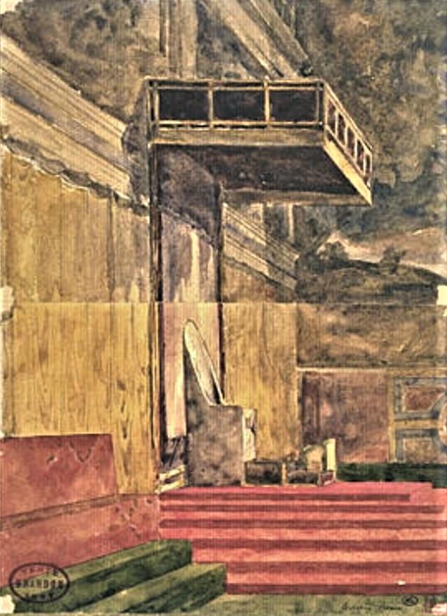 Edouard Brandon, 1IE-1874-31-5, Aquarelles. Maybe??: 1856-63 (18xx), La chapelle Sixtine à Rome, wc, 23x17, DAG Louvre (iR23;M5a;aR4;R2,p119). Maybe also: S1870-3144, Quinze aquarelles; même numéro: Souvenirs d'Italie. Maybe??: HD1897/12/13-??.