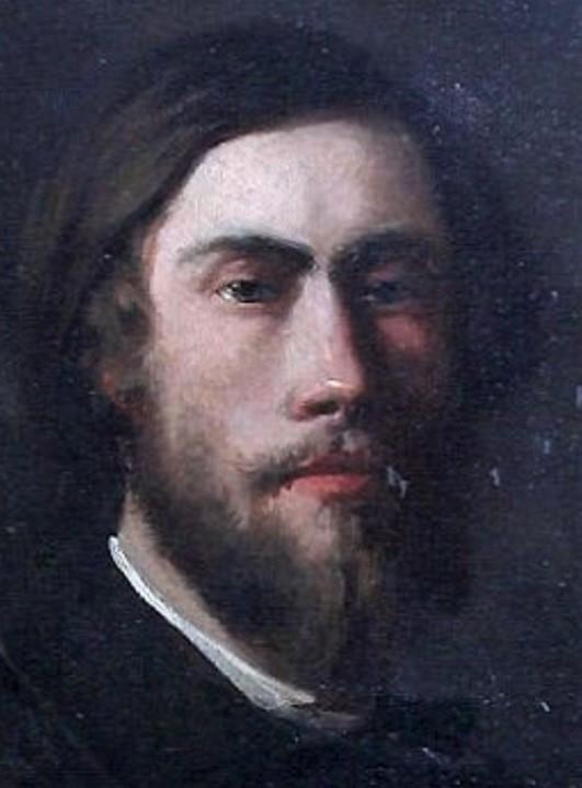 Gustave Colin, 1858, Self-Portrait (detail), 55x46, MBA Arras (iR313;R87,p240)