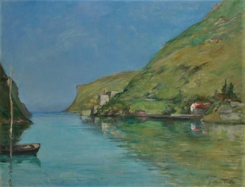 Gustave Colin, 18xx, The harbour of Pasajes, 89x116, A2015/05/20 (iR13;iR10;iRx;R87,p235;R88I,p146;R2,p120;iR1) Maybe?: S1868-554 = 1IE-1874-49, Entrée du port de Pasages (Espagne)