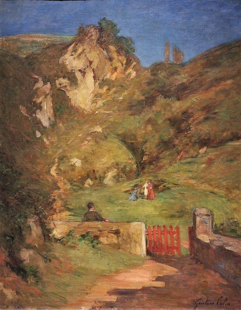Gustave Colin, 1900-04, On the road to the castle in Pasajes, 82x65, MBA Pau (iR6;iR23;aR16=M170) = Pau-1904-126, Sur la route du Castillo à Pasajes