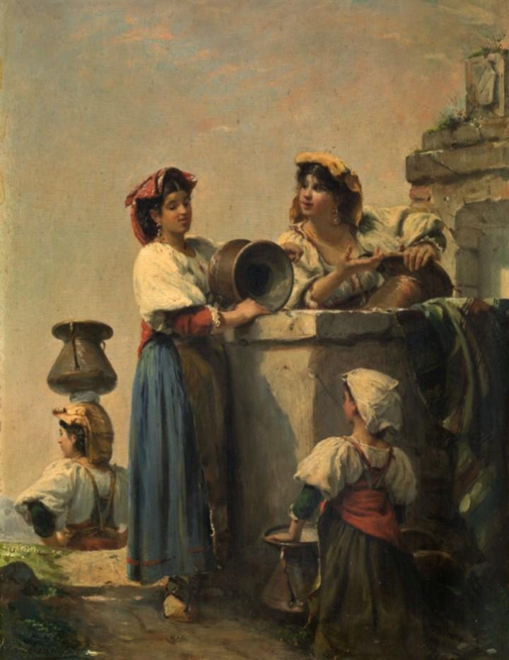 Edouard Brandon, HD1897/12/13-39, Souvenir d'Italie. Maybe??: 1856-63 (18xx), In Rome, 34x26, KMSA Antwerp (M81;aR10;aR4;M81)
