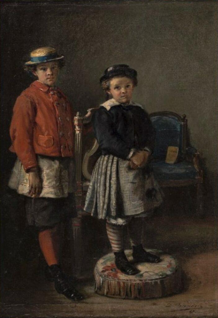 Edouard Brandon, S1868-340, Les fils de M. Octave Feuillet =1867, Jacques et Richard Feuillet, 36x26, MBA Saint-Lô (iR23;iR1;Mx)